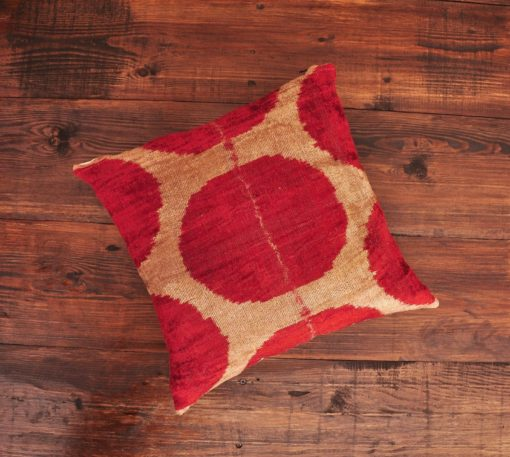 Center Circle Velvet Cushion