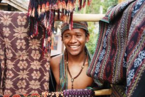 Ikat fabric: Traditional Textile and Ornament of Indonesia, Sumba Island