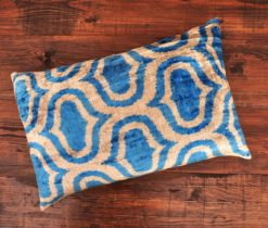 Blue Redux Velvet Cushion