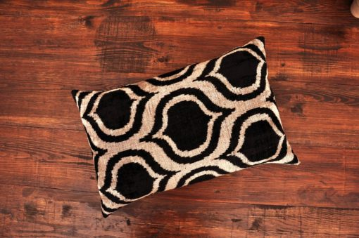 Black Redux Velvet Cushion
