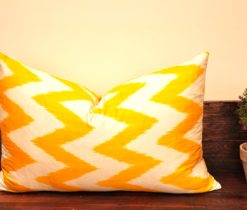 Zigzag Yellow Ikat Cushion