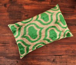 Green Redux Velvet Cushion