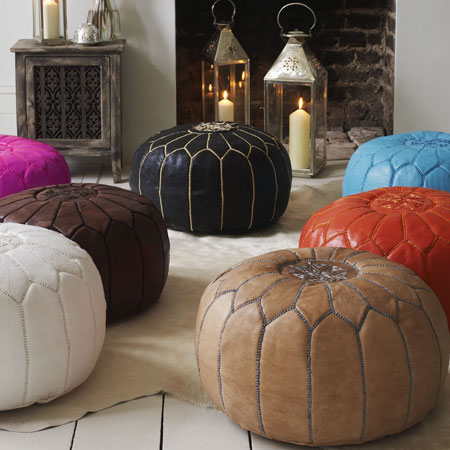 MOROCCAN OTTOMANS FOR INTERIOR