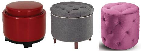 Poufs with legs and without legs