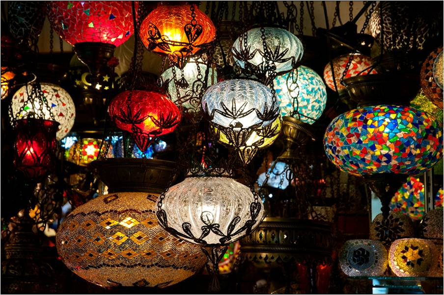 famous turkish mosaic lamps