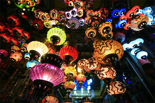 Turkish colored lanterns - a visiting card of the Grand Bazaar