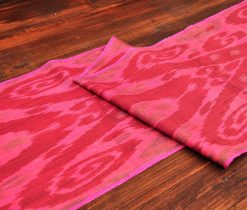 Warm Red Silk/Cotton Ikat
