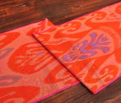 Vivid Orange Silk/Cotton Fabric