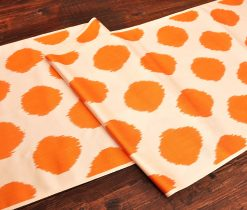 Circle Orange Silk/Cotton Textile