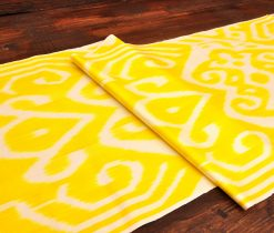Rich Lemon Silk/Cotton Fabric