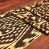 Golden Brown Ikat Fabric