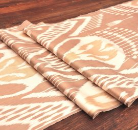 Brown Ikat Fabric By The Yard